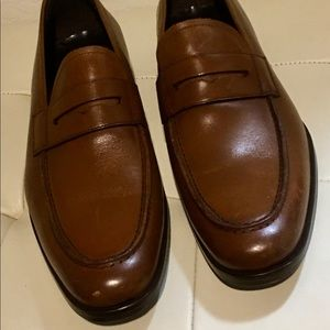 NEW To Boot New York Penny Loafers Brown 10